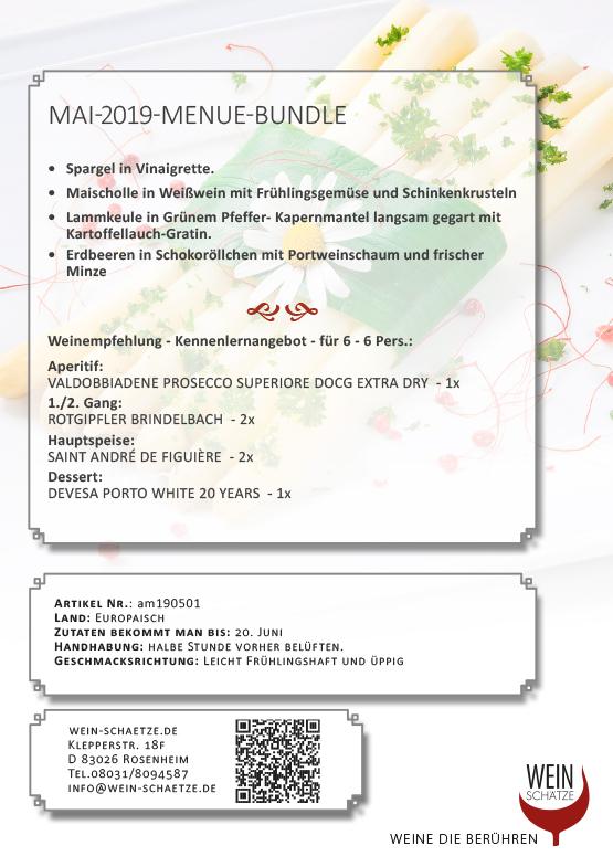 Wein-Schätze Mai 2019 Menue Bundle